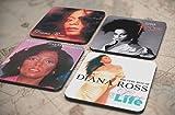 40種類!人気レア!《ダイアナ・ロス/Diana Ross》オリジナル・アルバム ジャケット デザイン コルク製 コースター 4個セット (33-36) [並行輸入品]