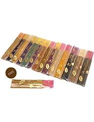 無料サンダルウッドVariety Gift Pack in Herbal TreatジャンボAgarbatti   Frankincense   Nag Champa   Patchouli  ジャスミン ペルシャローズ...