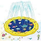 Vatos 噴水マット プレイマット 水遊び 親子遊び プールマット 夏対策 庭の中に遊び 家族用 芝生遊び プレゼント アウトドア 150CM