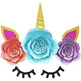 BESTOYARD ユニコーンの装飾紙花のポンポンズDIYの誕生日パーティーの婚約結婚式の装飾のための