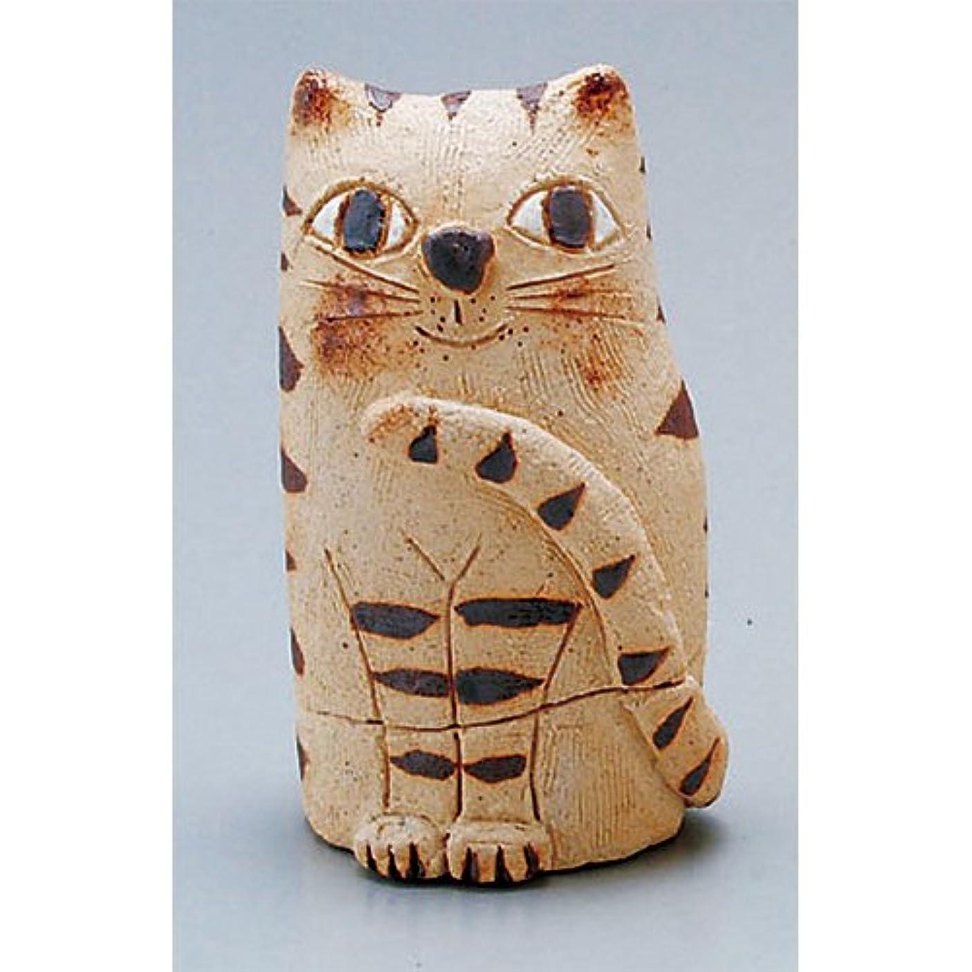 困った険しいライトニング香炉 蔵猫 香炉(小) [H11cm] HANDMADE プレゼント ギフト 和食器 かわいい インテリア