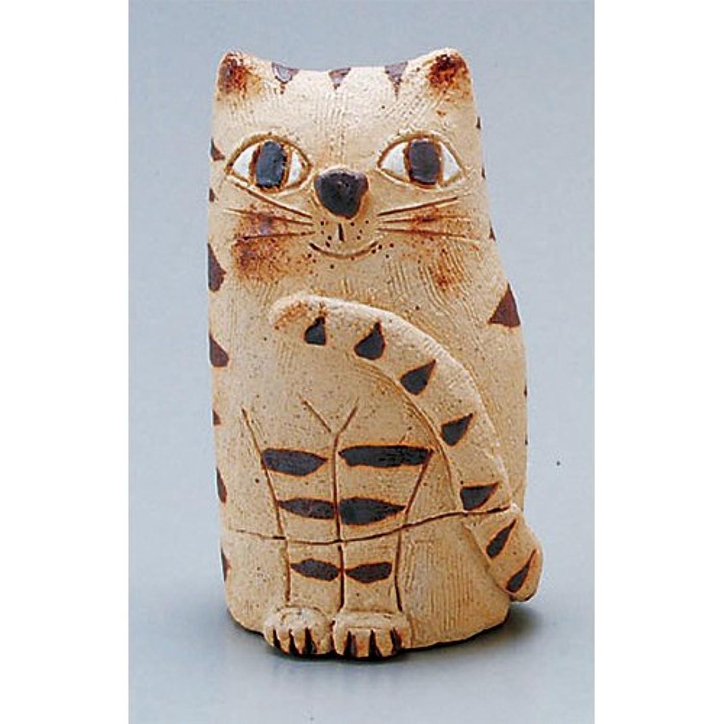 最も気候形容詞香炉 蔵猫 香炉(小) [H11cm] HANDMADE プレゼント ギフト 和食器 かわいい インテリア