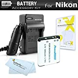 Battery And Charger Kit For Nikon Coolpix S3700 S2800 S2900 S33 S7000 S6900 S100 S5200 S6500 W100 A300 Digital Camera Includes Replacement (1000Mah) EN-EL19 Battery + Ac/Dc Charger + More [並行輸入品]