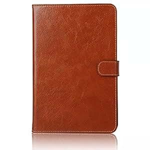 2015年iPad Mini4 ケース カバー手帳型 高級 2カード収納 高級レザースタンド機能アイパッド ミニ4スマートカバー高級PU レザーケースタッチペン+ファイル付き (ブラウン)