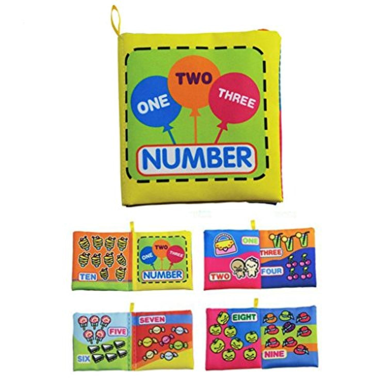 Jesse数図ベビーソフトプリントファブリック布Book Set for Kindergarten Preschool Learningアクティビティ知的開発