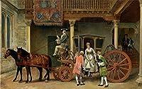 Mbwlkj カスタム 3D の写真の壁紙の壁画のリビングルームベッドルームの壁画の欧州クラシックロイヤルキャリッジオイルペインティングの壁画がある。-250Cmx175Cm