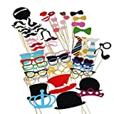 # 1レートDIYブース小道具、alenca : Reg ;最新フォトDIYブース小道具キット–パーティーウェディング誕生日Reunions写真ブース、コスチュームwith Mustache on a Stick、帽子、メガネ、口、Bowler LYSB01H5S3KU6-ELECTRNCS