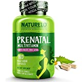 NATURELO Prenatal Whole Food Multivitamin - with Natural Iron, Folate and Calcium - Vegan & Vegetarian - Non - GMO - Gluten Free Prenatal (180 Capsules)
