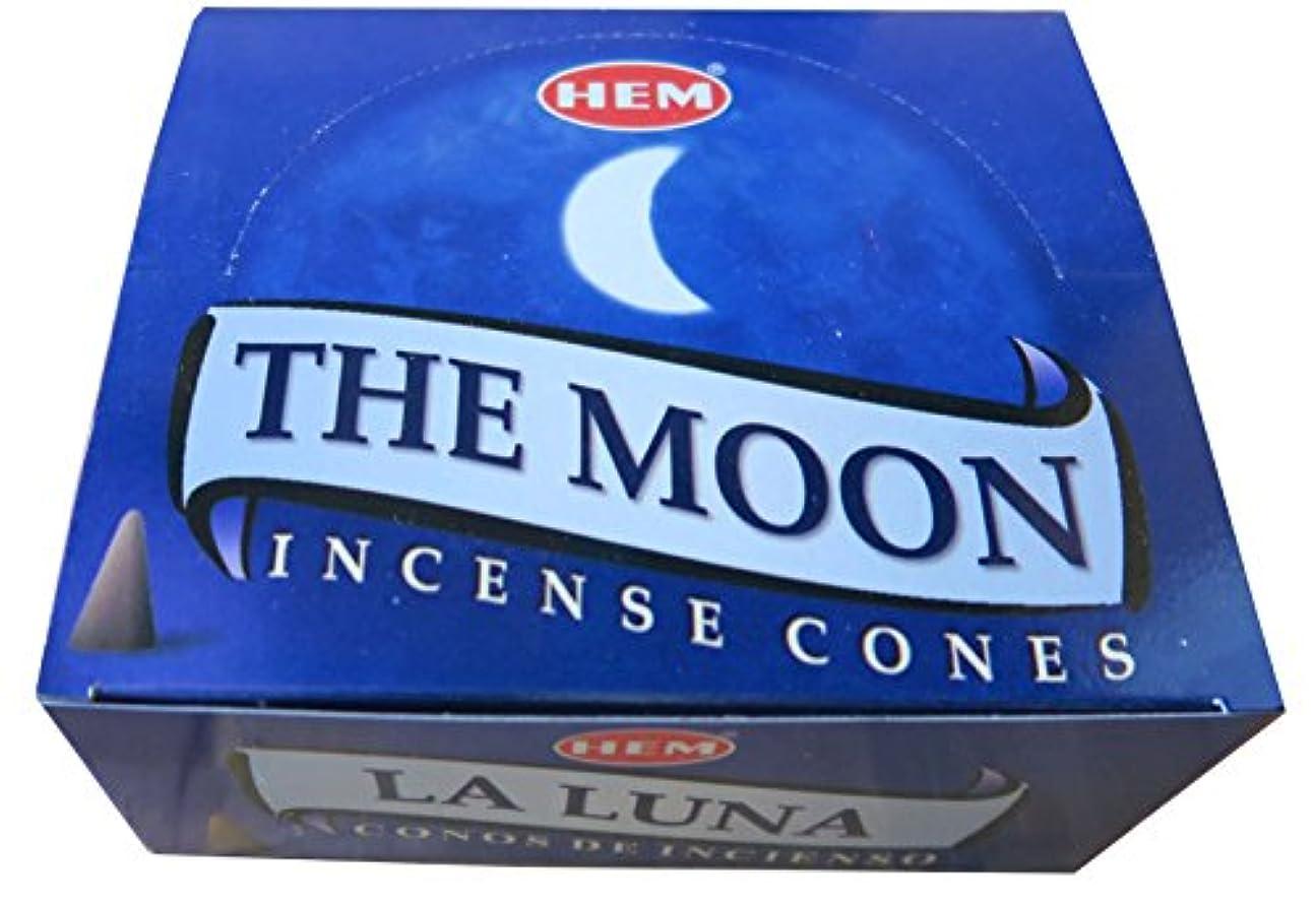 に関して完全に乾く取り戻すHEM社 コーン型インドお香 THE MOON