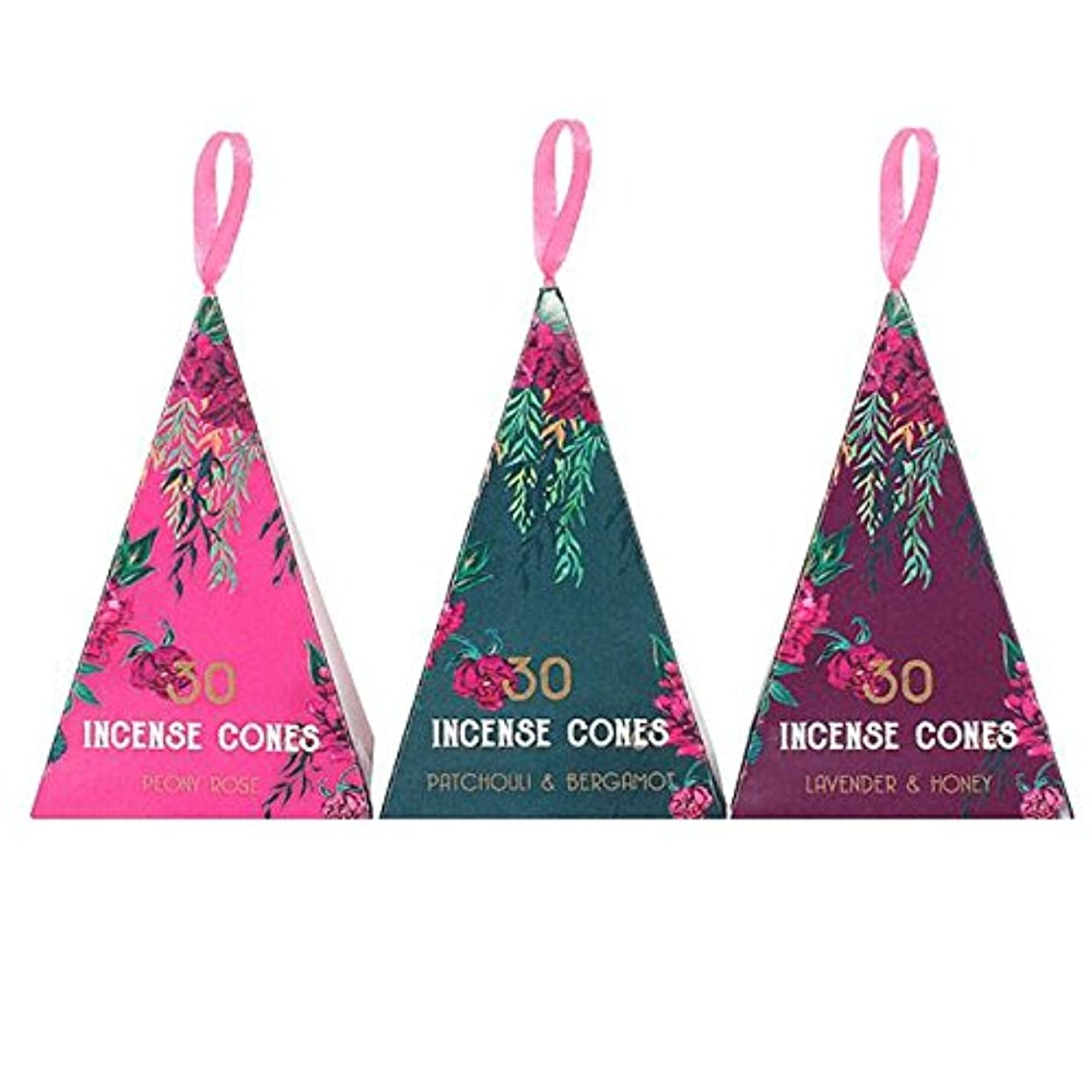 Luxury Oriental Flight 3Pack Of 12 Incense Cones Pack Of 12