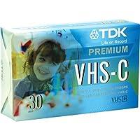TDK VHS-C プレミアムカムコーダーテープ 30分 3パック