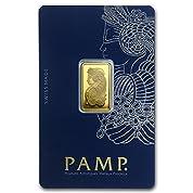 【 5 グラム 純金 ゴールドバー 】 スイス パンプ社 ゴールド バー 5g インゴット .9999 24K 金 金塊「 豊穣の角 コルヌコピア 」保証番号付
