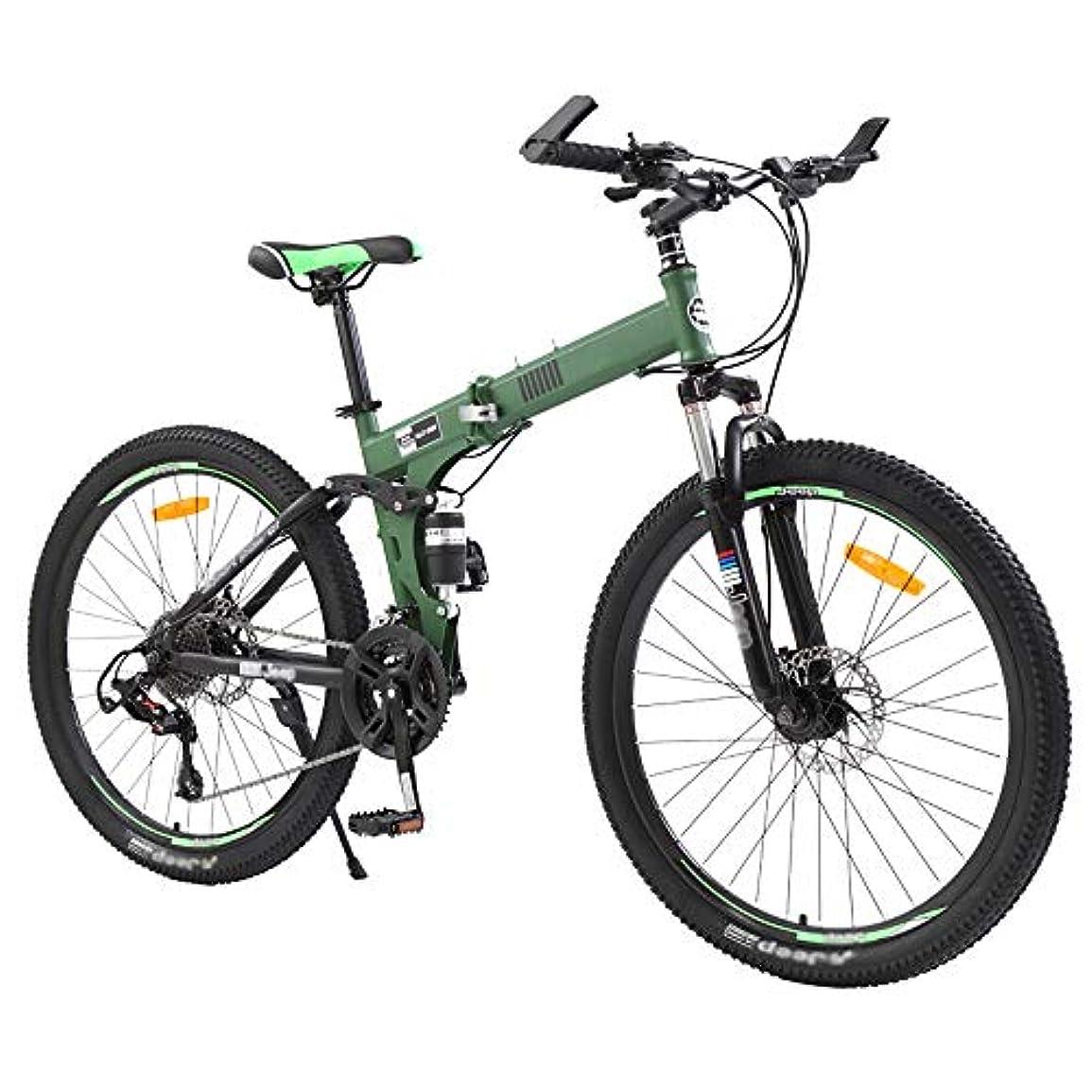 災難八百屋さんクレジットマウンテンバイクデュアルディスクブレーキ自転車、軽量折りたたみ自転車、大人の男性と女性のためのアサルトバイク、24速高炭素鋼
