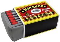 150倍ボックス ティッシュケース マッチ箱 (イエロー&レッド)