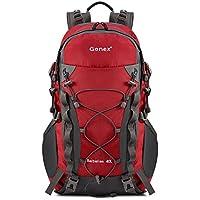 Gonex 40lアウトドアハイキングクライミングバックパックデイパック防水登山バッグ、雨カバー付属
