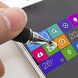 aibow タッチペン スマートフォン タブレット スタイラスペン iPad iPhone Android 2本+ペン先6個 (ブラック)