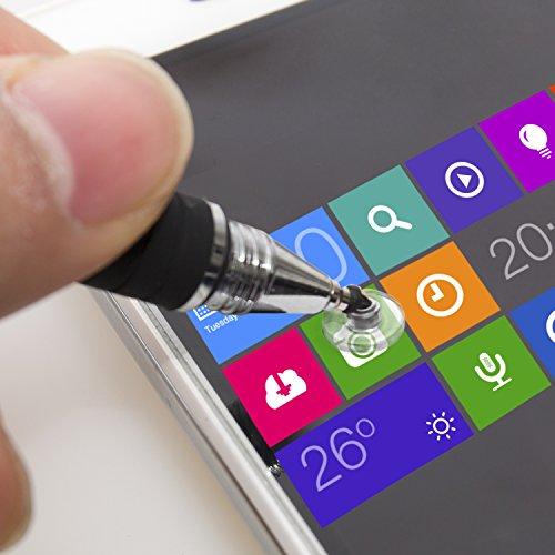 aibow タッチペン スマートフォン タブレット スタイラスペン iPad iPhone Android 2本+ペン先6個 (ブラック+シャンパンゴールド)