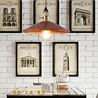 WandaElite シャンデリア真鍮色のランプシェード小レトロ工業スタイルパーソナリティバーテーブルリビングルームのテーブルベッドルームベッドサイドの照明シンプルなクリエイティブ(25 * 25 * 12CM) 品質装飾ライト (色 : Red)