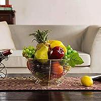 SLH ヨーロッパスタイルフルーツ盛り合わせ大きなリビングルームフルーツバスケット乾燥フルーツフルーツキャンディスナック盆地 (Color : Champagne)
