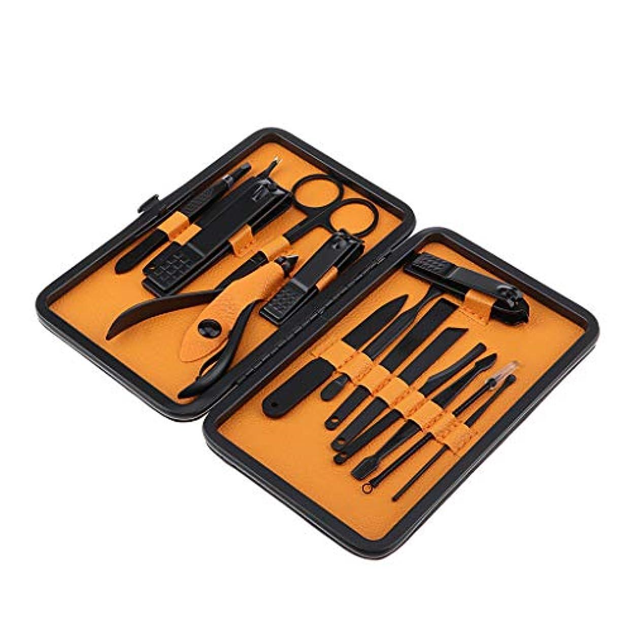 トリムヘクタール重要なSM SunniMix ネイルカッタークリッパー 爪切り ニッパー にきびニードル ネイルトリマー 全15点パック 4サイズ - 03