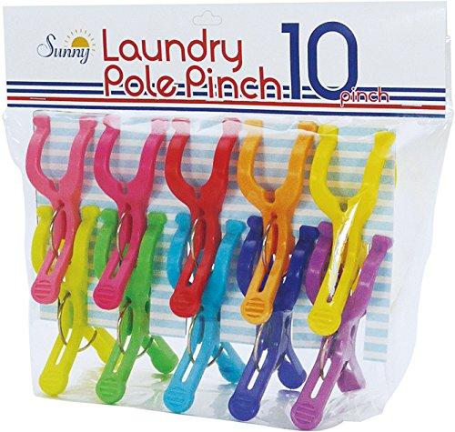 洗濯ばさみ ポールピンチ 10個入 SUNNY RAINBOW A302RA
