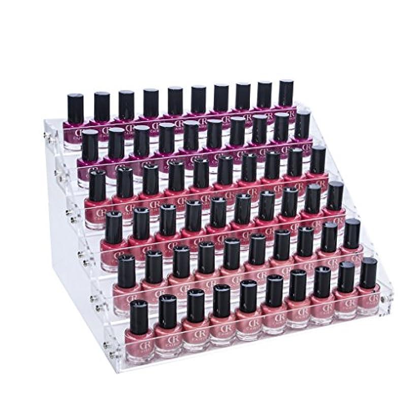 忌まわしい添加剤染色Gospire アクリル マニキュアスタンド ネイルスタンド ネイルカラー収納 マニキュア収納ケース 口紅収納 ジェルネイル 収納 小物入れ 60本入れ
