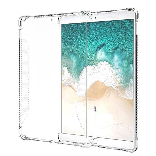 iPad Pro 10.5 ケース - ATiC Apple iPad Pro 10.5 2017専用 四角衝撃防止TPU製ケース 透明 iPad Pro公式キーボードとマッチ