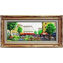生田明 『パリ』 油絵・油彩画 WF3