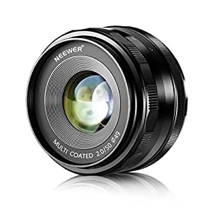 NEEWERNEEWER50mm f/2.0手動フォーカスプライム固定レンズ FUJIFILM APS-Cデジタルカメラに対応 例えばX-A1/A2 X-E1/E2/E2S X-M1 X-T1/T10 X-Pro1/Pro2(NW-FX-50-2.0) 【並行輸入品】