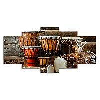 Mocmm キャンバス壁アートレな美しい風景写真現代プリントインテリアリビングルームの壁アート5個アートドラム楽器キャンバス絵画モジュラー-200x100cm