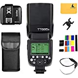 Godox TT685S TTL Sony Flash Speedlite 2.4G HSS 1/8000s GN60 Camera Flash Speedlight + GODOX X1T-S TTL Wireless Flash Trigger Transmitter for Sony A77II A7RII A58 A99 ILCE6000L A350 DSC-RX10 (TT685S + X1T-S)