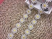 幅:2.5cm 弾力なし、花モチーフ付刺繍入りレース、アクセサリー テーブル掛け、カーテン、ウェディングドレス、DIY、服装装飾(1バック2ヤード)に適用すること。 (黄)