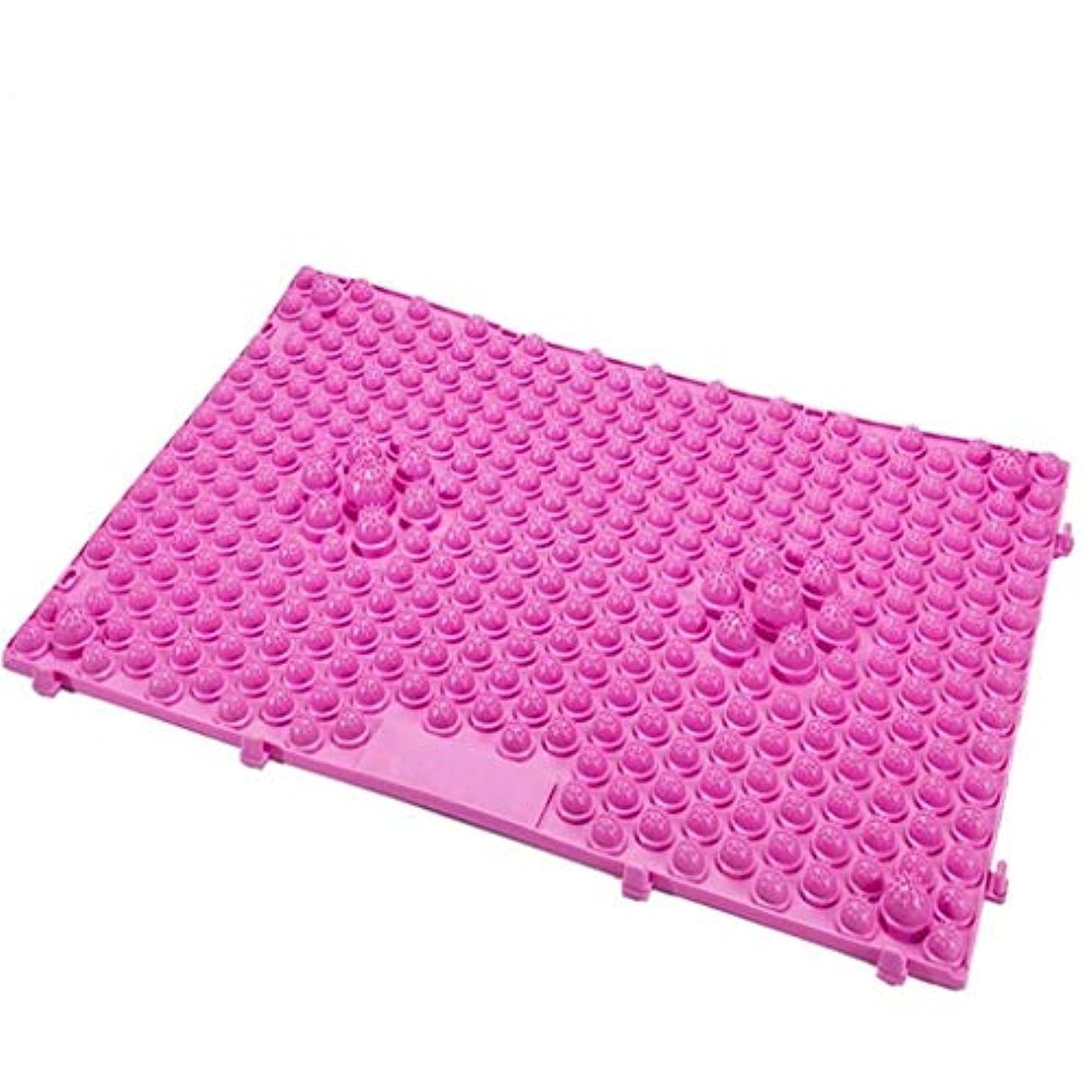 かすれたネイティブレンダーフットマッサージャー、フットマッサージ指圧パッド、フット/トーマッサージパッド、バスルームマット/ヨガマット/スポーツマット (Color : ピンク)