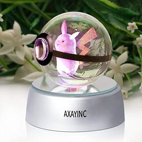 axayinc 3dクリスタルボールLED夜ライトAdvan...