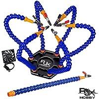 Rjxはんだ付けステーションで支援アルミベース用はんだ付け、モデリング、趣味、工芸品、アセンブリ、修理 (Black Base + Blue Arms)