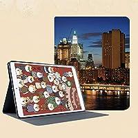 おしゃれなIPad Mini3/2/1(初代第二三世代) 専用スマートカバー 指紋防止 [オート スリープ/スリー プ解除]ニューヨークのブルックリン橋の高層ビルと有名なメトロポリスマンハッタンアメリカ
