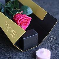 誕生日・プチギフトに「飛び出す花 The Flora」 本物のお花を加工したプリザーブドフラワー ピンクのバラ