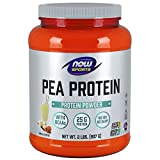 NOW Sports Nutrition, Pea Protein 25 G With BCAAs, Easily Digested, Vanilla Toffee Powder, 2-Pound