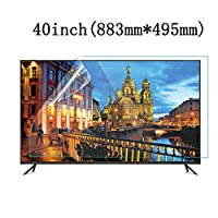 LSYOA つや消しアンチブルーライト テレビ画面プロテクター、スーパークリア 目の保護 テレビ保護パネル 泡なし スクリーン保護フィルム、LCD、LED、OLED、QLED 4K HDTV向け,40in