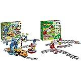 レゴ(LEGO)デュプロ キミが車掌さん! おしてGO機関車スーパーデラックス 10875 &  あそびが広がる! 踏切レールセット 10882【セット買い】
