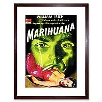 Book Cover Pulp Fiction Marijuana Irish Murder Killer Evil Framed Wall Art Print