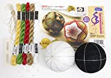 オリムパス製絲 オリジナル手まりキットシリーズ TM-4 三羽根亀甲・環つなぎの梅