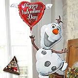 即日発送対応 バレンタイン バルーンギフト 【 ミニ チョコ付 オラフ Frozen 】 ヘリウムガス入り2個 28316 アナと雪の女王 Frozen