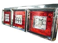 Officek 24V 3連 角型 赤白 フルLEDテール 左右セット 薄型
