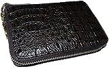 モテ系の一本!粋なクロコ型押しハーフラウンド折り財布 [ TRAVIS 9281 ] 誕生日プレゼント メンズ財布 (ブラウン)