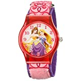 Disney Kids ' w001699ラプンツェル、BelleアナログDisplayアナログクオーツPink Watch