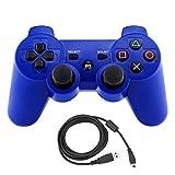 Bowink ワイヤレスコントローラ PS3用USBケーブル付属 (ブルー)