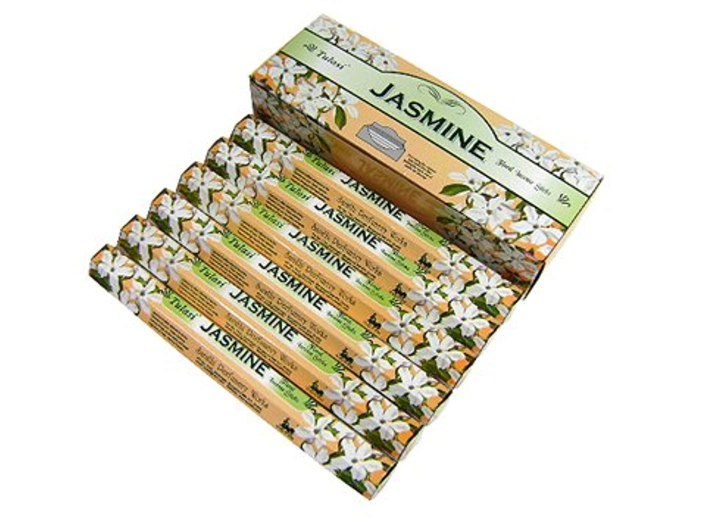 夢余暇精巧なTULASI(トゥラシ) ジャスミン香 スティック JASMINE 6箱セット