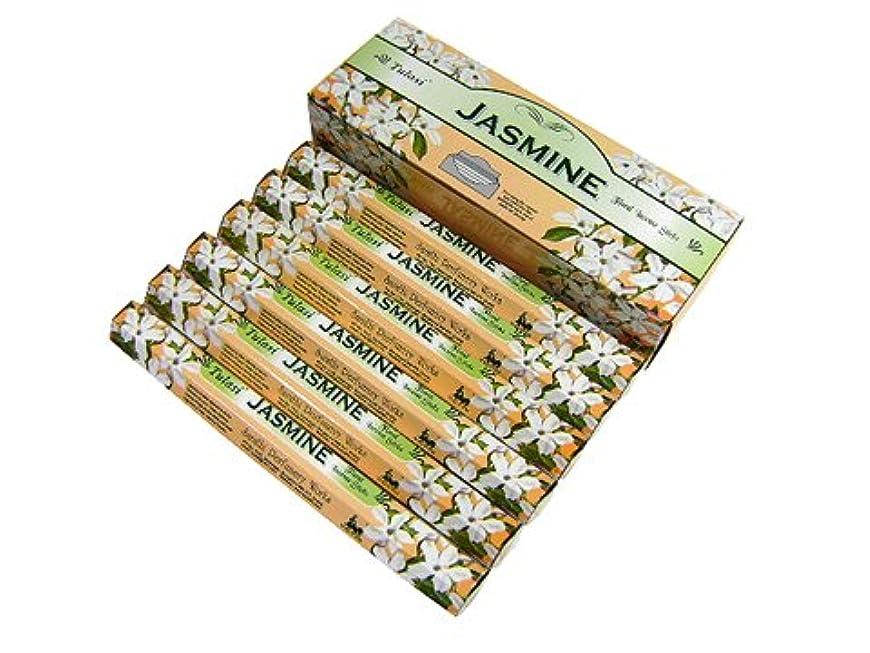 みなす残酷隔離するTULASI(トゥラシ) ジャスミン香 スティック JASMINE 6箱セット