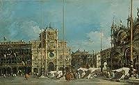 Francesco Guardi ジクレープリント キャンバス 印刷 複製画 絵画 ポスター (サンマルコ広場のトレデルオロロジオ) #XFB